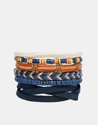 Asos Nautical Bracelet Pack Brown
