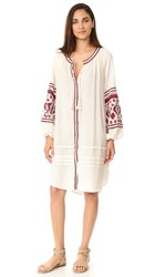 Free People In The Clear Embroidered Shirtdress White