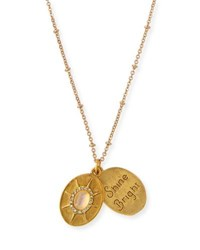 Sequin Full Moon Talisman Necklace Gold