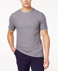 Club Room Men's Tipped Performance T Shirt Created For Macy's Shark