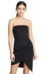 Susana Monaco Strapless Side Pleat Dress Black