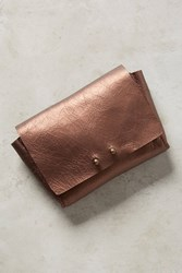 Anthropologie Stella Leather Wallet Dusted Bronze