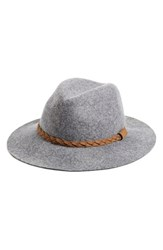 Women's Michael Stars 'She's Twisted' Wool Fedora Metallic Crescent