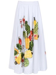 Isolda Rio Flared Skirt White