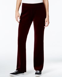 Styleandco. Style And Co. Sport Embellished Pockets Velour Sweatpants Only At Macy's Merlot