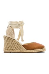 Soludos Leather Wedge Tan