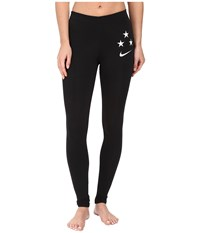Nike Usa Soccer Leg A See Tights Black White Women's Casual Pants