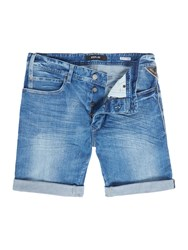 Replay Men's Rbj.901 Tapered Fit Bermuda Shorts Blue