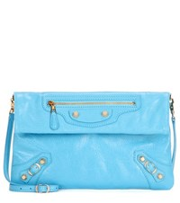 Balenciaga Giant 12 Envelope Leather Clutch Blue