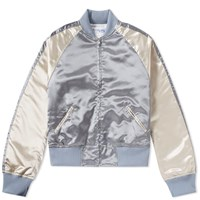 Comme Des Garcons Shirt Boy Back Print Souvenir Jacket Grey