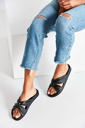 Urban Outfitters Supple Leather Twist Slide Black