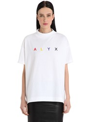 Alyx Logo Printed Cotton Jersey T Shirt