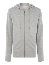 Minimum Men's Zipped Hoodie Light Grey Marl