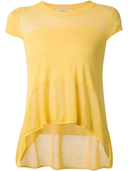 Viktor And Rolf Asymmetric Hem Top Yellow And Orange