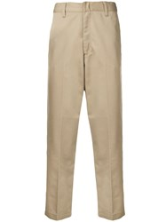 Edwin Cropped Tailored Trousers Nude And Neutrals