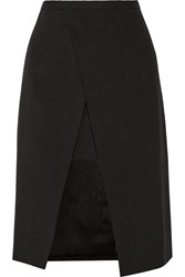 Mason By Michelle Mason Origami Asymmetric Wrap Effect Cady Skirt Black