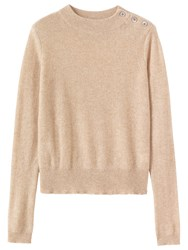 Toast Button Detail Jumper Almond