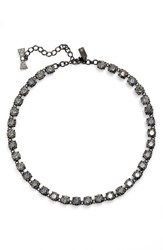 Kate Spade Women's New York 'Fancy That' Small Stone Necklace Black Patina