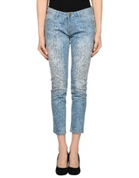 Shine Denim Capris Blue