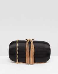 True Decadence Clutch Bag With Tassel Detail Black
