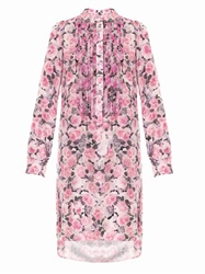 Adam By Adam Lippes Rose Print Silk Dress