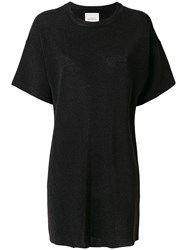 Laneus Plain T Shirt Dress Black