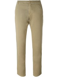 P.A.R.O.S.H. Slim Fit Cropped Trousers Nude And Neutrals