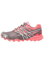 The North Face Ultra Mt Gtx Trail Running Shoes Rocket Red Dark Gull Grey Anthracite
