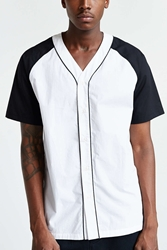 Shades Of Grey By Micah Cohen Shades Of Grey By Michah Cohen Colorblock Baseball Shirt Black And White