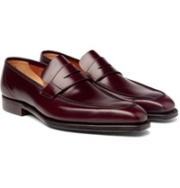 George Cleverley Leather Penny Loafers Burgundy