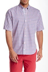 Tailorbyrd Plaid Short Sleeve Shirt Red