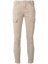 J Brand Cargo Skinny Trousers Nude Neutrals