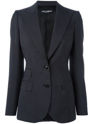 Dolce And Gabbana Polka Dot Blazer Black