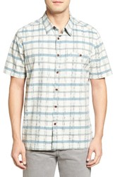 Quiksilver Men's Waterman Collection 'Idle Time' Regular Fit Plaid Camp Shirt