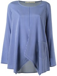 Mr Mrs Shirt Striped Blouse Blue