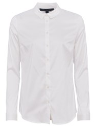 French Connection Degas Cotton Shirt Summer White
