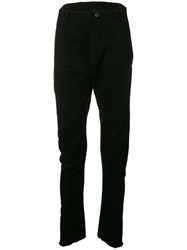 Masnada Dropped Crotch Trousers Black