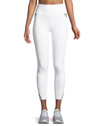 Lanston Cody Full Length Reflective Performance Leggings White