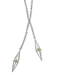 Lagos 18K Gold And Sterling Silver Pyramid Capped Wrap Necklace 42 Silver Gold