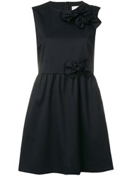 Red Valentino Bow Detail Dress Black