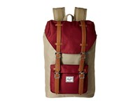 Herschel Little America Mid Volume Brindle Windsor Wine Tan Synthetic Leather Backpack Bags Red