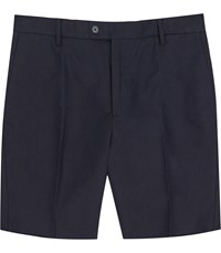 Reiss Chilwa S Tailored Linen Shorts In Navy