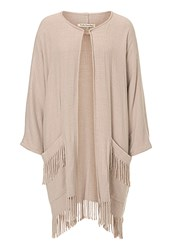 Betty Barclay Fringed Blanket Coat Beige