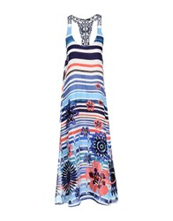Desigual Long Dresses Blue