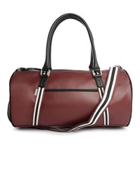 Ben Sherman Burgundy Pu Barrel Bag