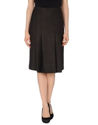 Rena Lange 3 4 Length Skirts Dark Brown