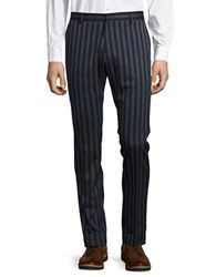 Selected Skinny Striped Suit Pants Dark Navy