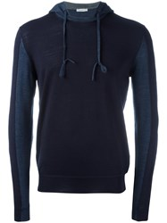 Paolo Pecora Drawstring Pullover Hoodie Blue
