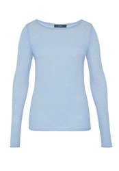 Hallhuber Basic Cashmere Pullover Light Blue