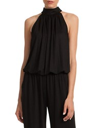 Trina Turk Silk Bubble Hem Halter Top